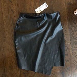 Boohoo faux leather skirt high waisted